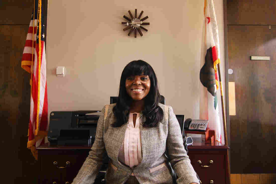 "Compton Mayor Aja Brown, 33, is the youngest in the city's history. She recently worked with rap star Dr. Dre, who plans to use royalties from his latest album, ""Compton,"" to build a new performing arts center in his hometown."