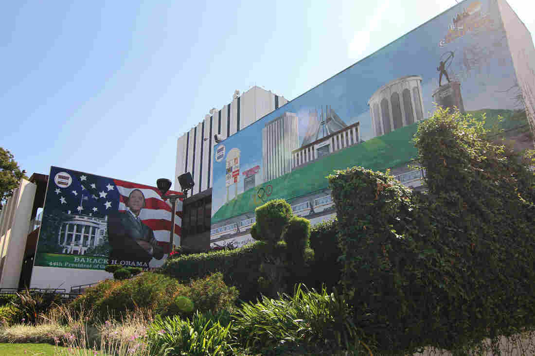 "Since the 1980s, the image of Compton has been shaped around the world by rap groups like N.W.A and movies like Straight Outta Compton, a new film that depicts the group's rise in the chaotic 1980s and 1990s. These murals at Compton City Hall promote an image overhaul: ""Birthing a New Compton."""