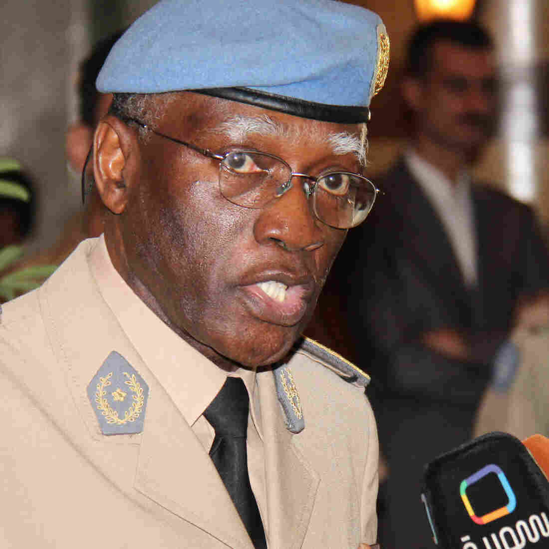 Babacar Gaye has been forced to resign from his post leading the U.N.'s peacekeeping mission in the Central African Republic. He's seen here in 2012, when he led the U.N.'s force in Syria.