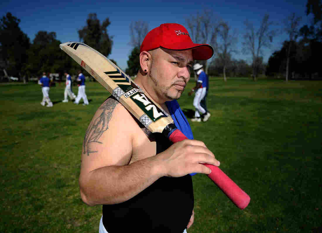 Sergio Pinales packs up after a training session with his Compton cricket teammates at Woodley Cricket Field on Jan. 28, 2011 in Los Angeles.