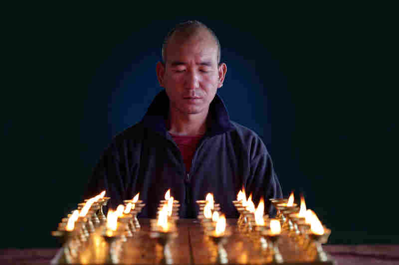 Former monk Lobsang Phuntsok is the father figure for the 85 children who live at his school.