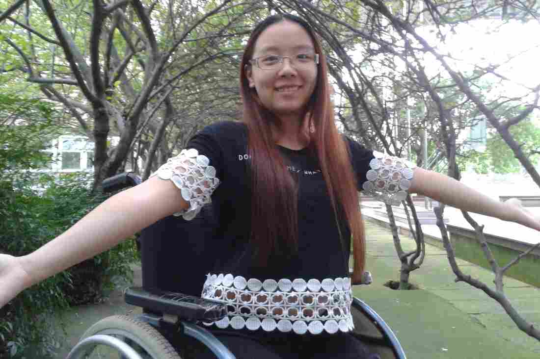Huang Meihua, 18, lost both her legs above the knee in a devastating 2008 earthquake in southwest China. She's about to start her last year in high school, where she's learning English, taking the SATs and hoping to attend college in the U.S. or Canada.