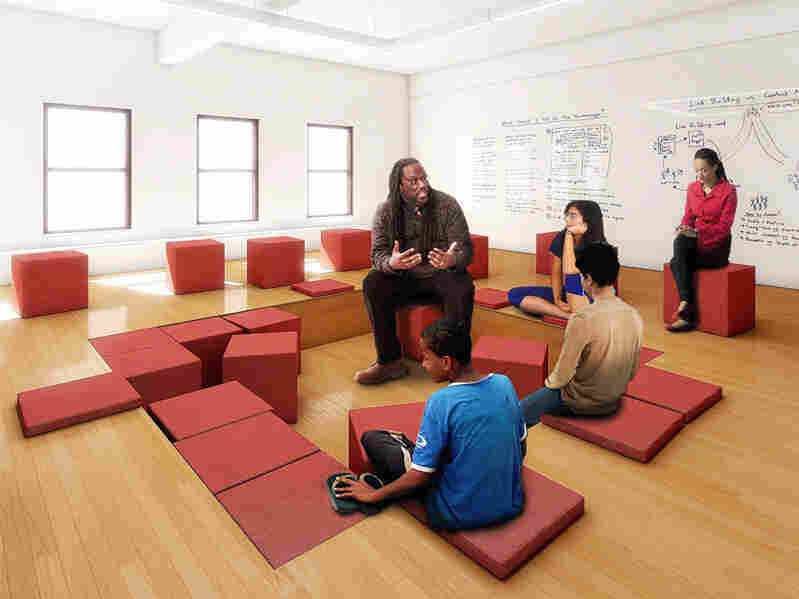 The Pit is a modular space for debate and discussion.