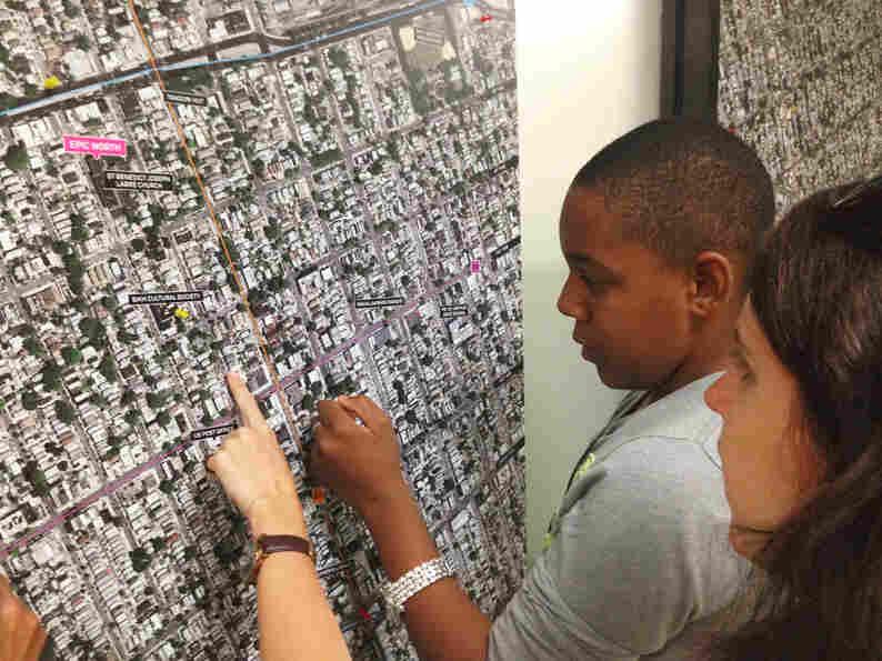 Students help Kurani designers learn about their neighborhood.