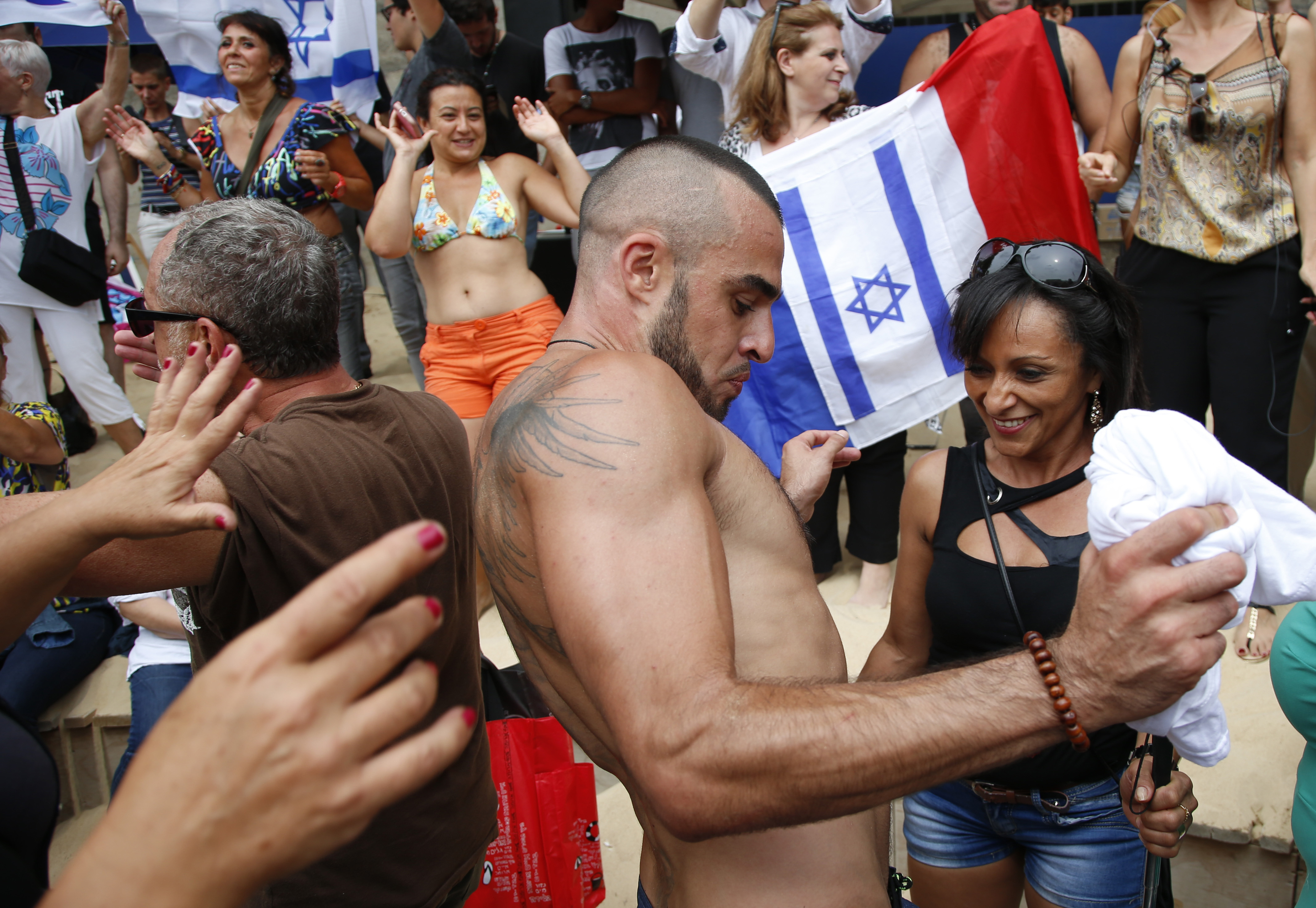 A Paris 'Beach Party' Turns Into A Middle East Protest