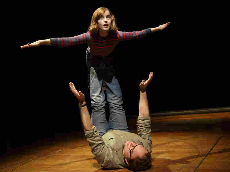 Sydney Lucas plays a young Alison Bechdel and Michael Cerveris is her father in the musical Fun Home.