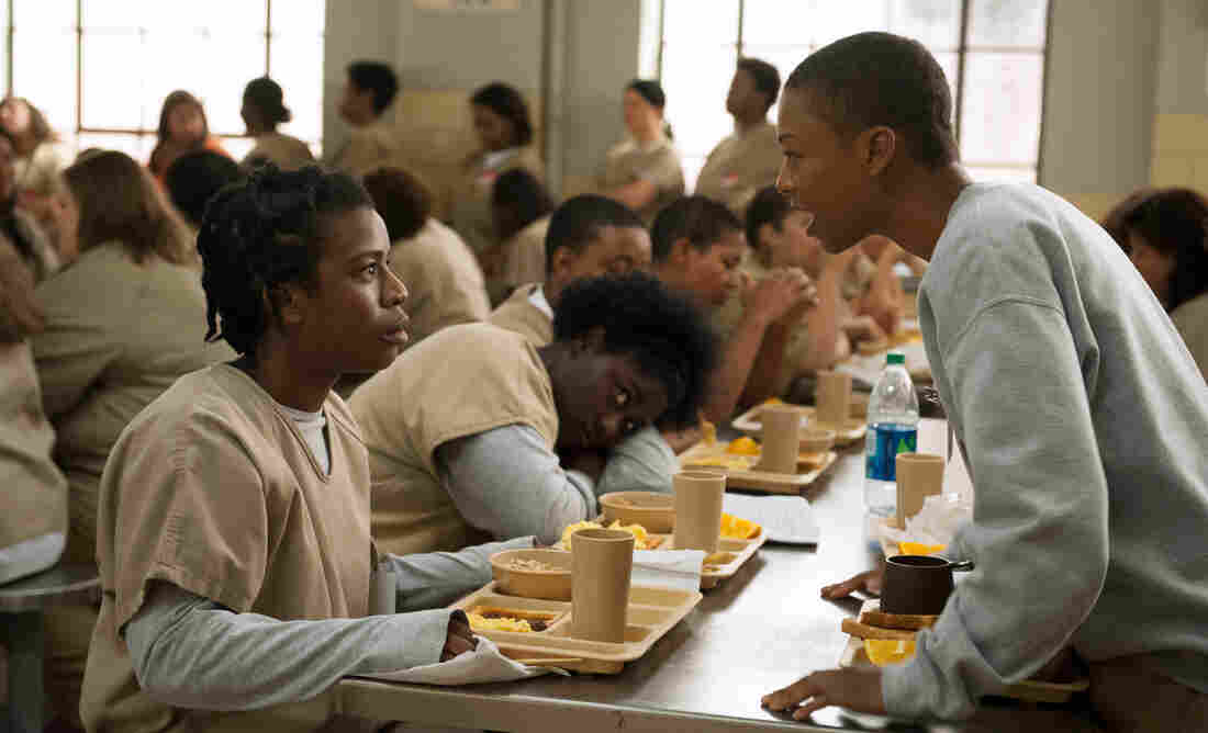 Uzo Aduba and Samira Wiley in Orange Is the New Black, one of the many series now delivered in one big bundle.