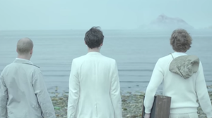 "Members of Beirut appear in a scene from their new video, ""Gibraltar."""