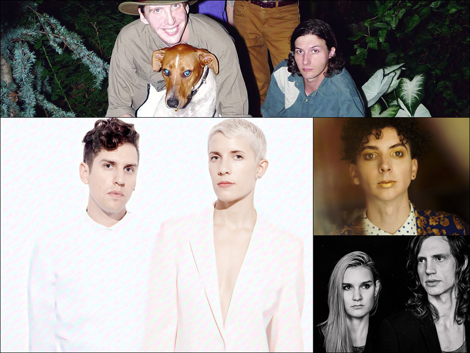 Clockwise from upper left: Deerhunter, Youth Lagoon, GEMS, YACHT