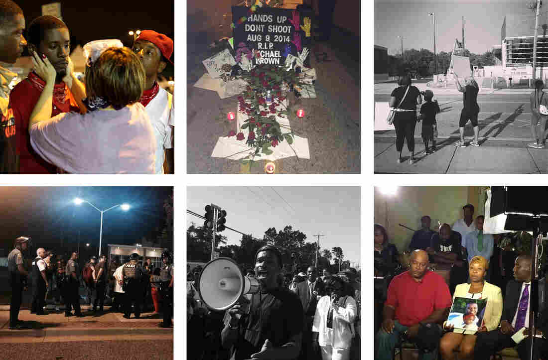 Scenes from Ferguson, Mo., in August 2014, captured by some of the reporters I spoke to for this story.