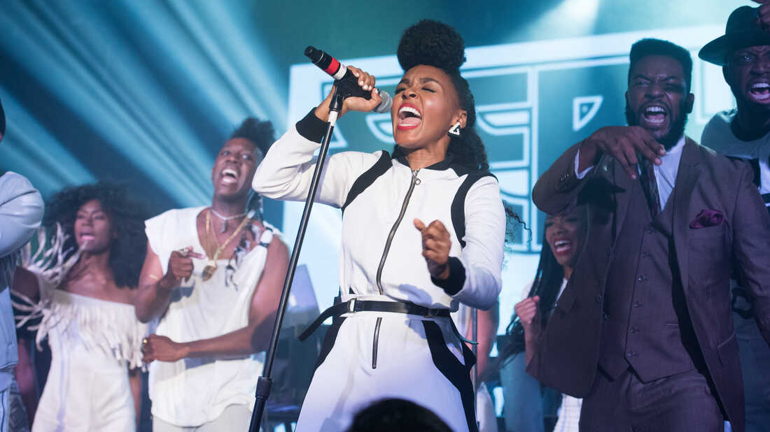 NEW YORK, NY - AUGUST 13: Isis Valentino, Chuck Lightning and Janelle Monae perform during the Eephus tour on August 13, 2015 in New York City. (Photo by Noam Galai/Getty Images)