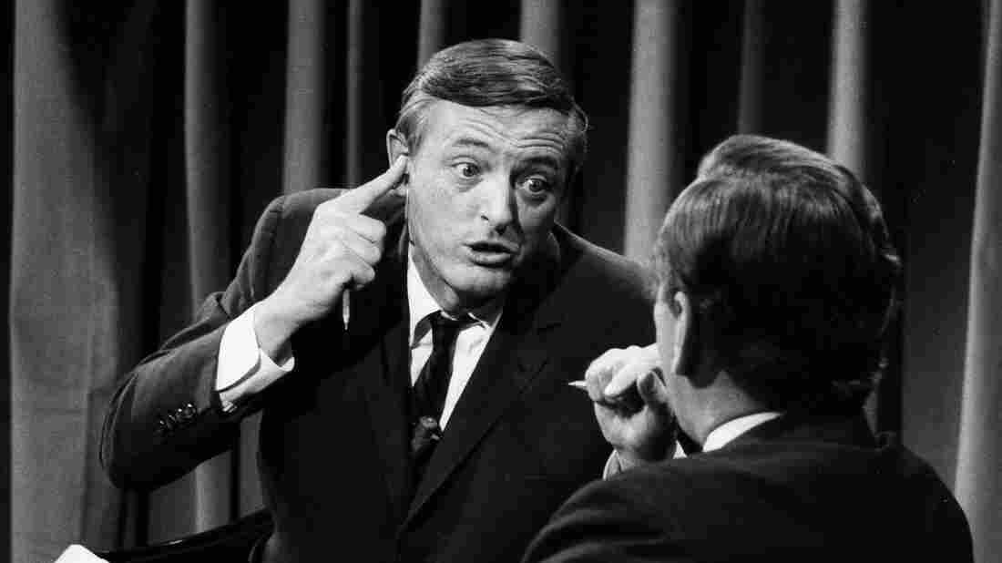 William F. Buckley (left) and Gore Vidal square off on Nov. 5, 1968.