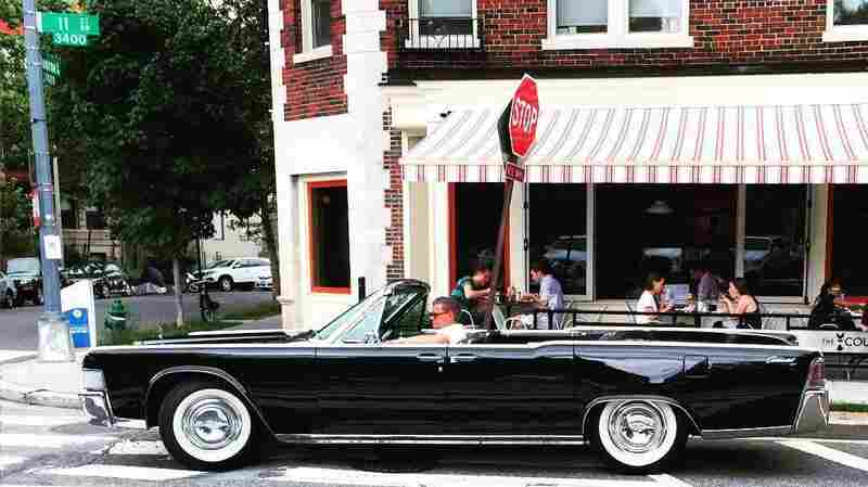 A classic Lincoln Continental convertible is seen in Washington, D.C., in June.