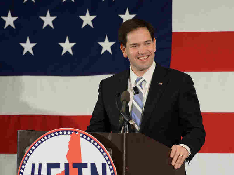 Florida Sen. Marco Rubio is one of the Republicans trying to stake out a more moderate position on birthright citizenship.