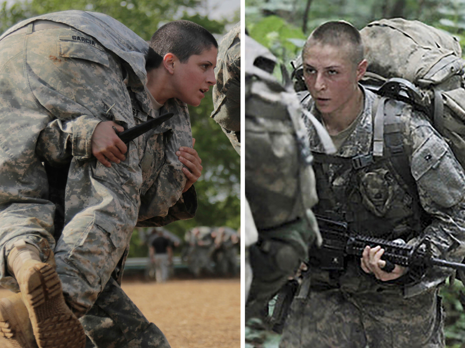 The first women to pass the Army's elite Ranger training, Capt. Kristen Griest (left) and 1st Lt. Shaye Haver (right), will receive their Ranger tabs when they graduate Friday. (Reuters/Landov)