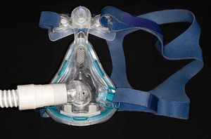 When worn at night, the mask of a CPAP (continuous positive airway pressure) machine delivers enough air pressure to keep the upper airway passages open. Blocked passages are behind the poor sleep and other symptoms associated with obstructive sleep apnea.