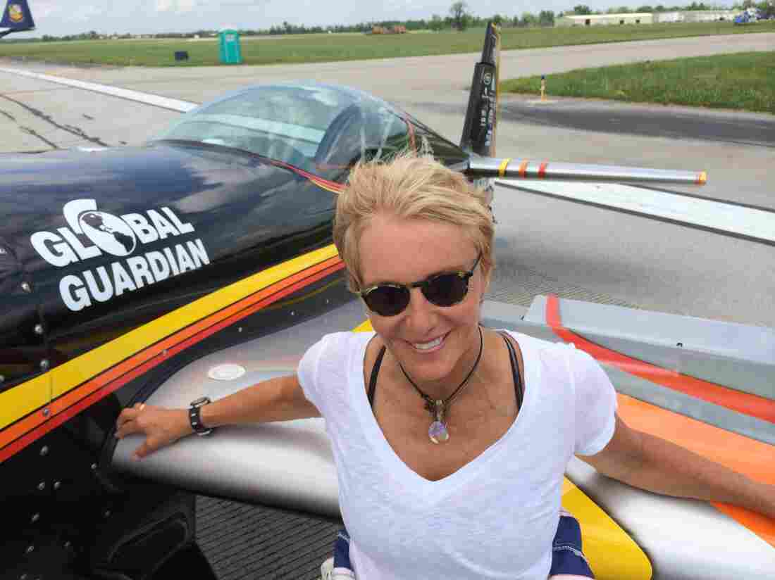 Patty Wagstaff is a fixture at air shows. She became the first woman to win the U.S. National Aerobatic Championship in 1991, and her winning plane (not pictured) is on display at the Smithsonian National Air & Space Museum in Washington D.C.