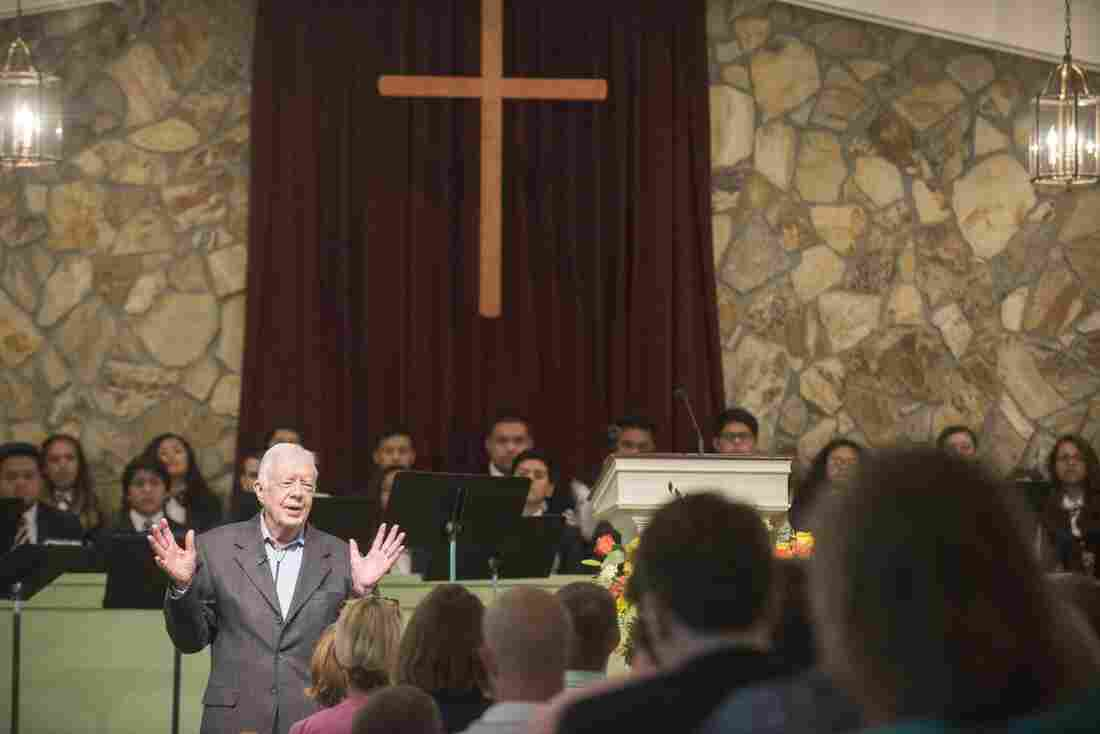 Former President Jimmy Carter is keeping up his regular Sunday school teaching at his home church in Plains, Ga. He taught there this past Sunday, and is on the calendar again in a few weeks.