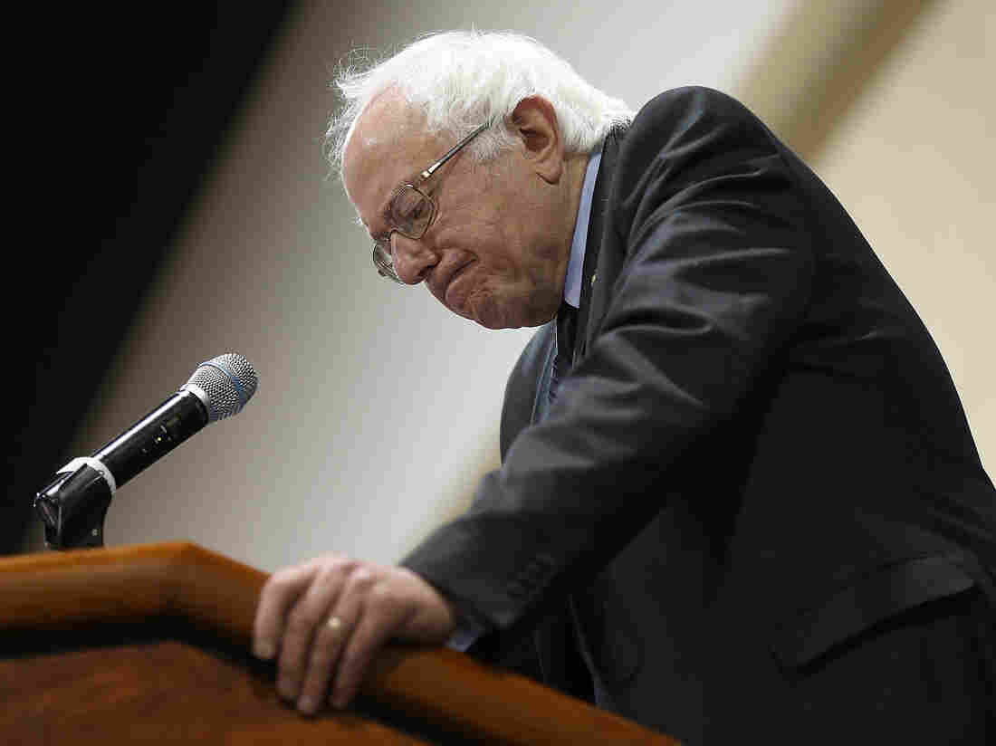 Sen. Bernie Sanders speaks at the South Carolina Democratic Party Convention in Columbia in April.