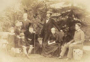 The Brazilian royal family, pictured in 1887, included (from left): Antonio, Isabel, Pedro, Luís (seated), Augusto, Emperor Pedro II, Gaston, Empress Teresa Cristina and Pedro Augusto. Under the Brazilian system of enfiteuse, which grants land rights forever, descendants of the family are entitled to receive tax today.