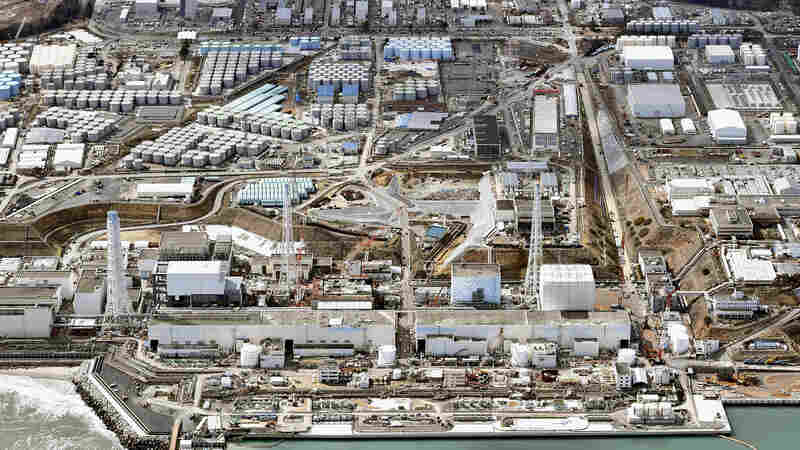 An aerial view of Tokyo Electric Power Co.'s tsunami-crippled Fukushima Dai-ichi nuclear power plant, on March 11.