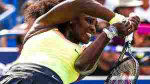 Serena Williams en route to winning the Western & Southern Open in Cincinnati on Sunday.