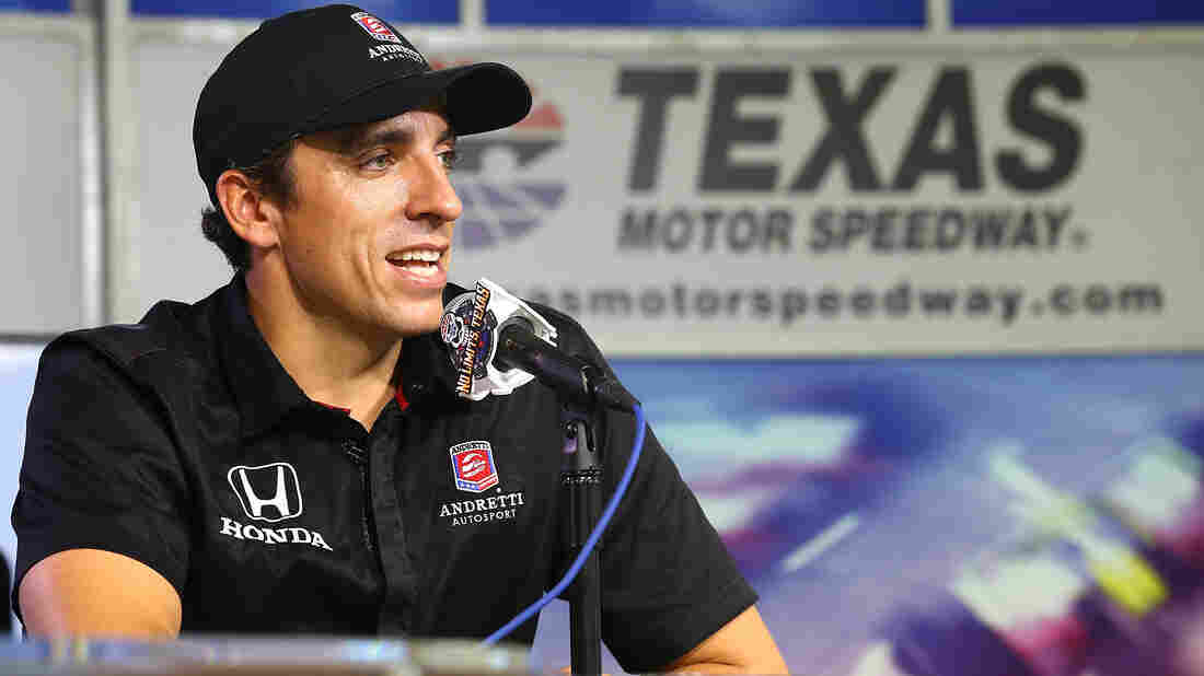 """Justin Wilson, seen here in May, had designated himself as an organ donor. """"He just keeps setting the bar higher,"""" his younger brother, Stefan, said Tuesday."""