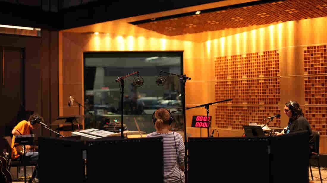 Yo La Tengo in NPR's Studio 1, performing music live between stories on Morning Edition.