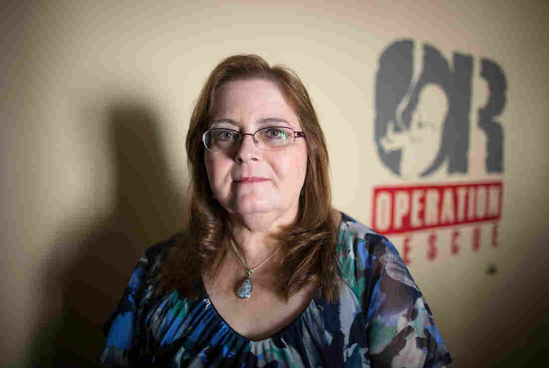 Cheryl Sullenger of Operation Rescue in Wichita, Kan., says clinics have failed to protect women's privacy rights.