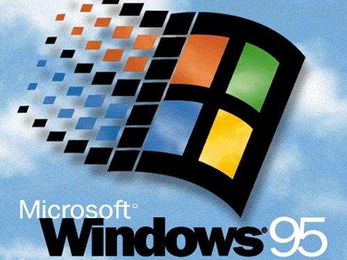 The logo for Microsoft Windows 95.