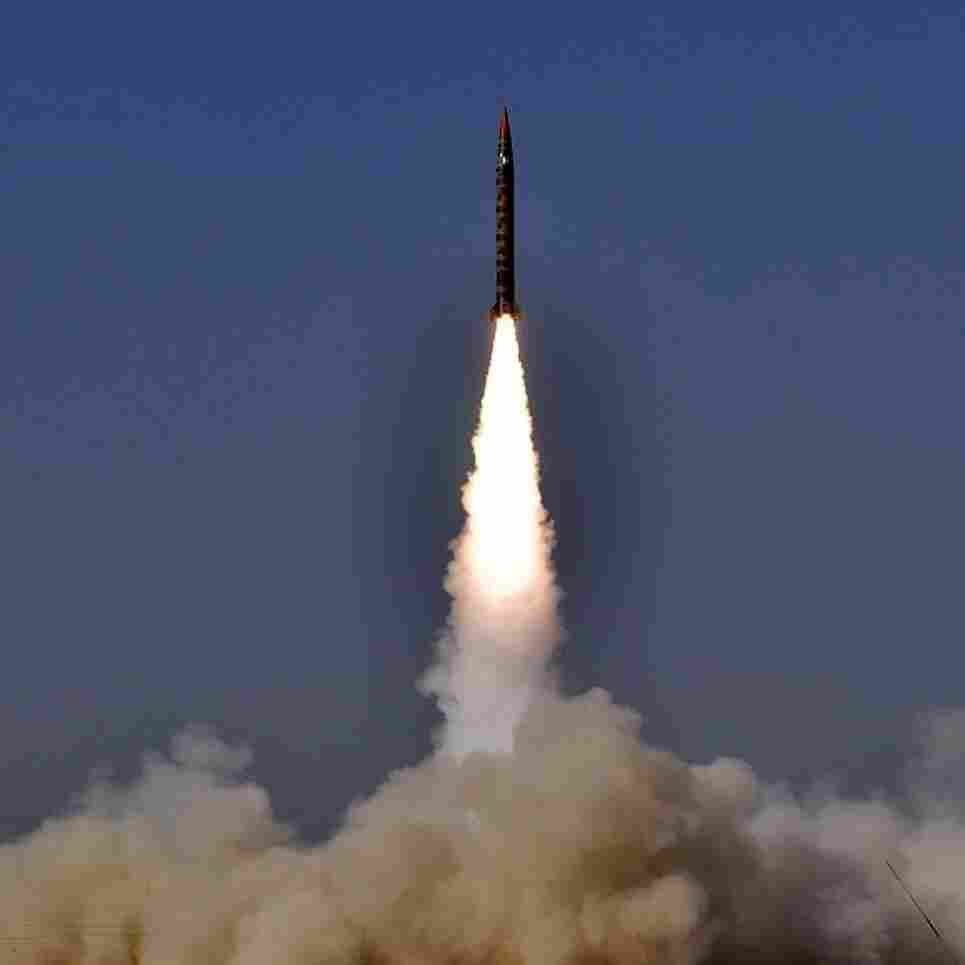 During a test last November,  the intermediate range ballistic missile Shaheen 1A (Hatf IV) is launched from an undisclosed location in Pakistan in a photo supplied by the Pakistani military. The missile is said to be capable of carrying nuclear warheads.
