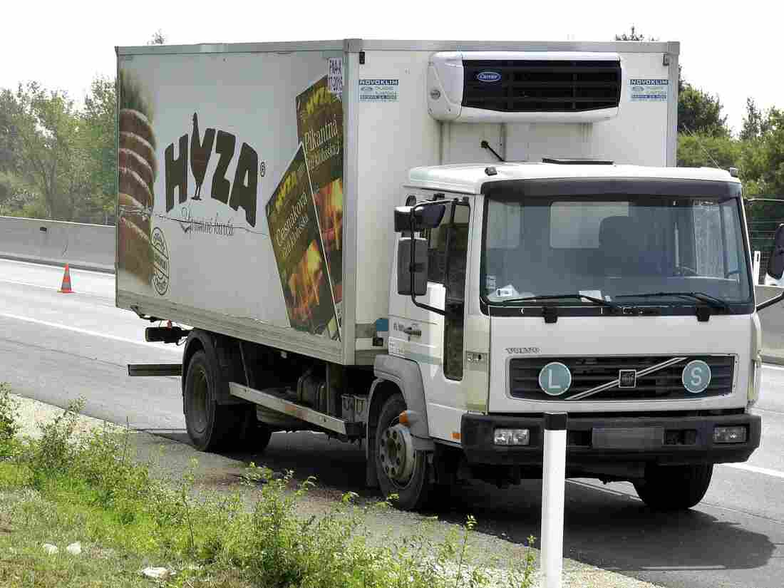 The bodies of dozens of dead migrants were discovered in an abandoned truck along autobahn A4 between Parndorf and Neusiedl, Austria, on Thursday.