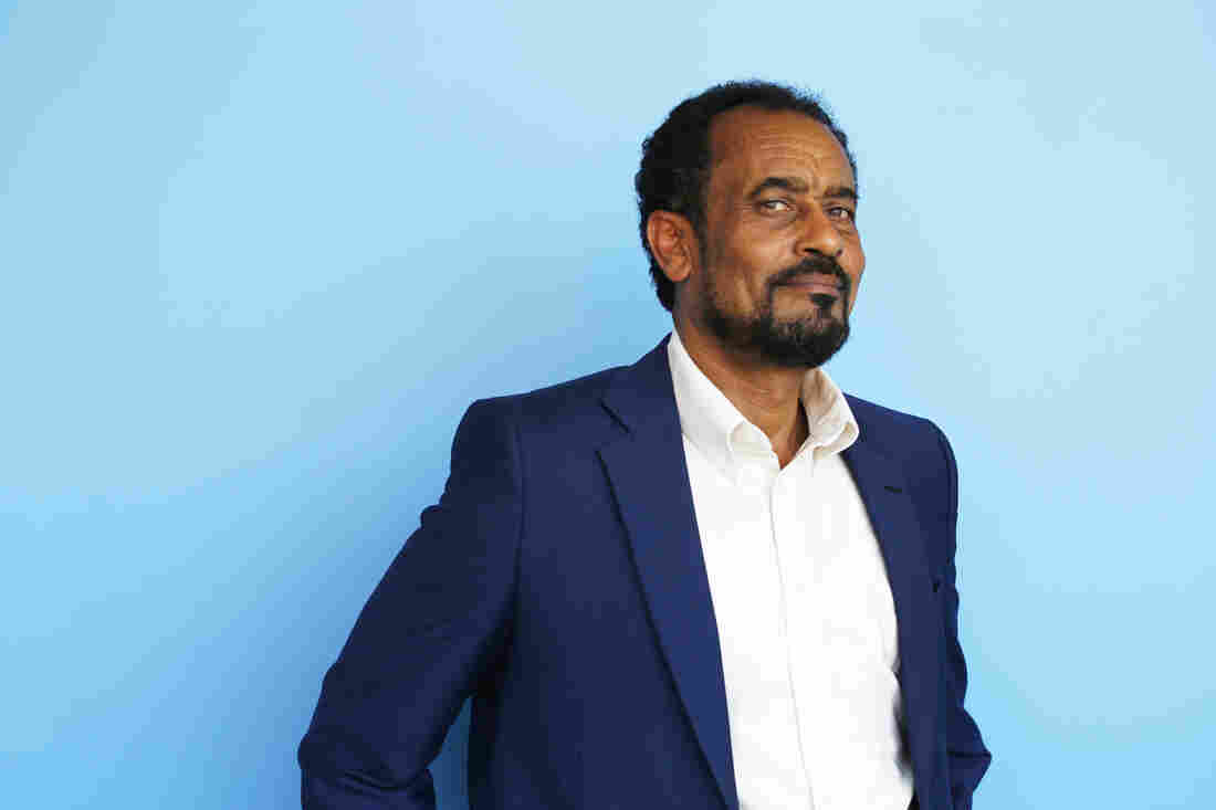 Bekele Gerba visited Washington, D.C., to bring his concerns about Ethiopia to the State Department. The photo was taken when he came to NPR for a radio interview.