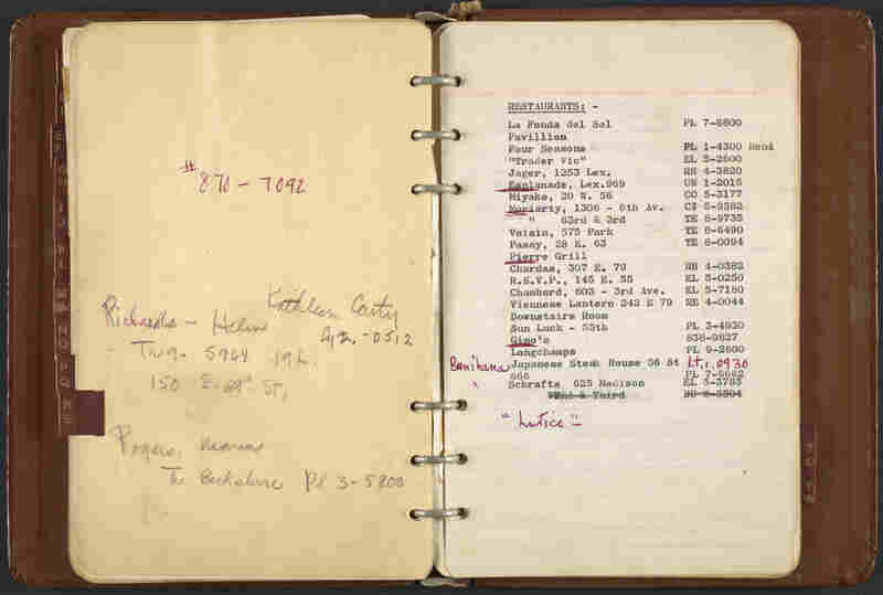 Dorothy Liebes' address book, ca. 1950-1972, was organized like the Yellow Pages.