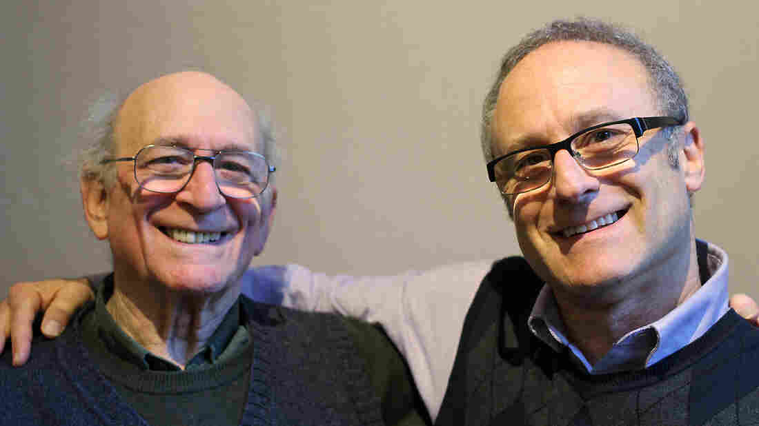Herman Heyn, 84, with his nephew John Heyn on a recent visit with StoryCorps.