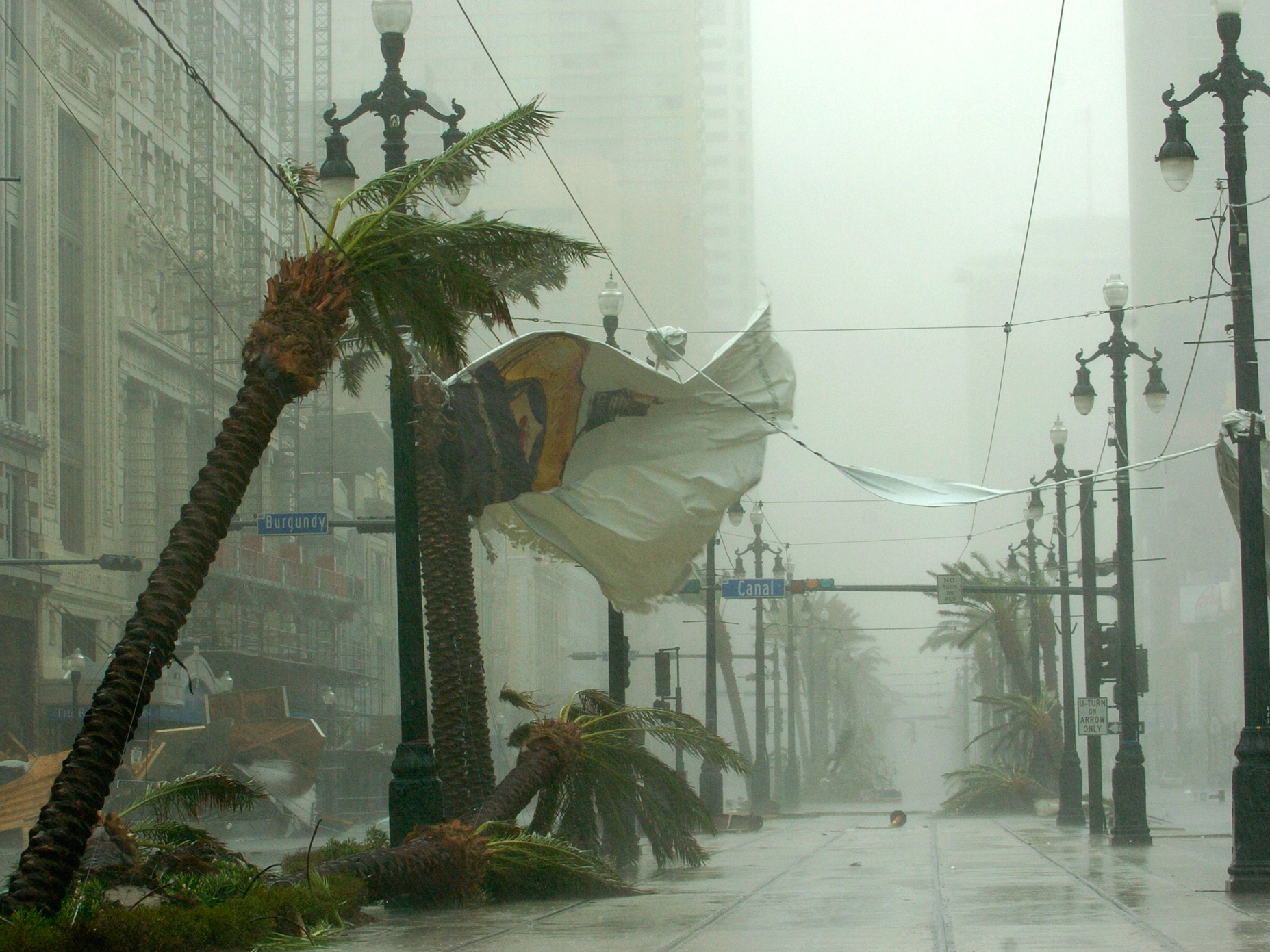 Palm trees bend and banners rip on Canal Street as Hurricane Katrina blows through New Orleans on Aug. 29, 2005 — 10 years ago Saturday.John Burnett, standing in knee-deep water in front of the Superdome shortly after Hurricane Katrina had passed.The Kids Quest building sits in the middle of the Route 90 next to the Grand Casino in Gulfport, Miss., on the day after the storm. Both buildings were wrecked from the high winds and waves of Hurricane Katrina.Palm trees bend and banners rip on Canal Street as Hurricane Katrina blows through New Orleans on Aug. 29, 2005 — 10 years ago Saturday.John Burnett, standing in knee-deep water in front of the Superdome shortly after Hurricane Katrina had passed.The Kids Quest building sits in the middle of the Route 90 next to the Grand Casino in Gulfport, Miss., on the day after the storm. Both buildings were wrecked from the high winds and waves of Hurricane Katrina.Palm trees bend and banners rip on Canal Street as Hurricane Katrina blows through New Orleans on Aug. 29, 2005 — 10 years ago Saturday.John Burnett, standing in knee-deep water in front of the Superdome shortly after Hurricane Katrina had passed.The Kids Quest building sits in the middle of the Route 90 next to the Grand Casino in Gulfport, Miss., on the day after the storm. Both buildings were wrecked from the high winds and waves of Hurricane Katrina.