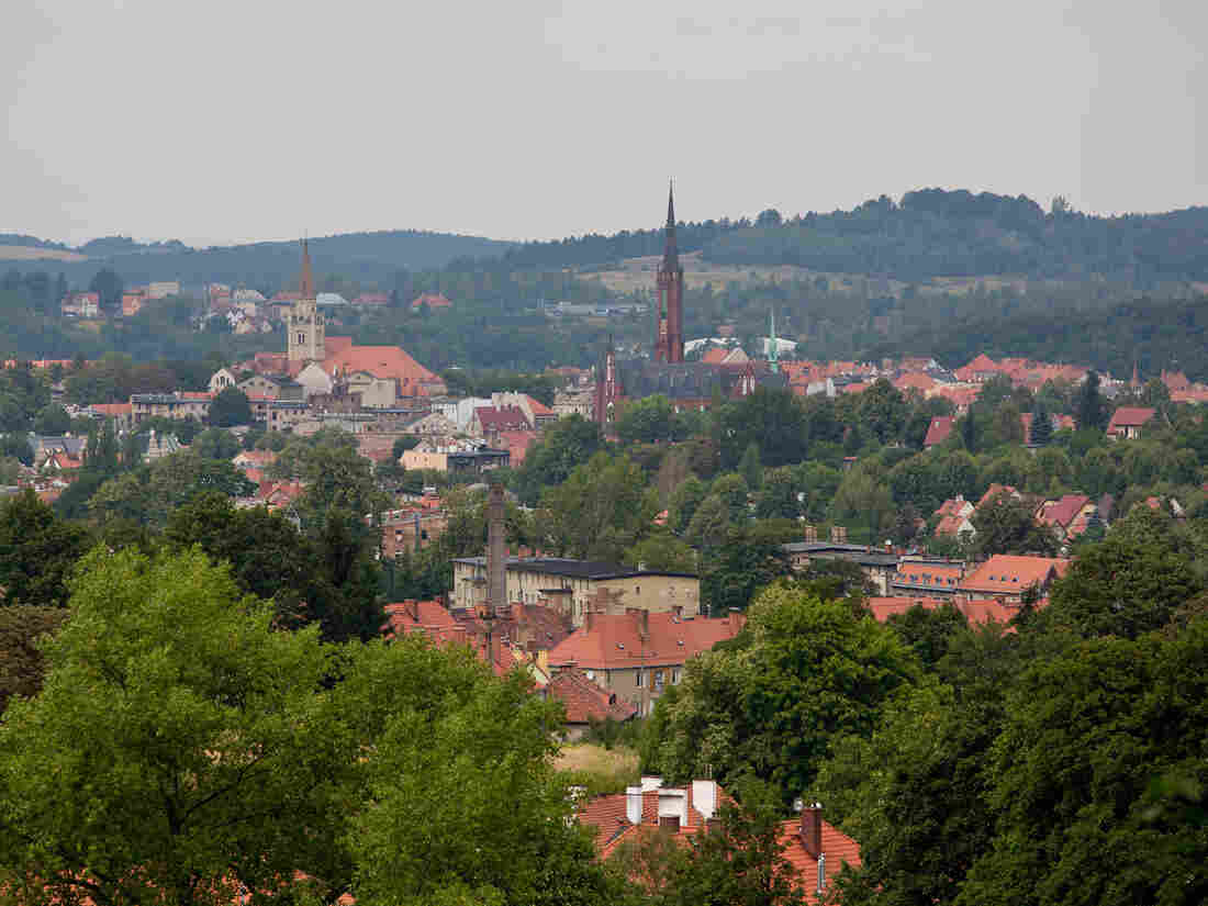 A view of the city of Walbrzych, Poland, near where a Nazi train, possibly holding some of the Third Reich's looted treasure, is believed to be hidden.