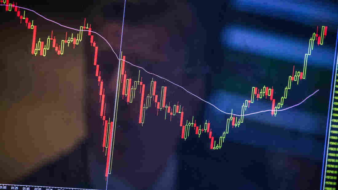 Stock prices fluctuated wildly this week after a sharp plunge on Monday — but what does that sound like?