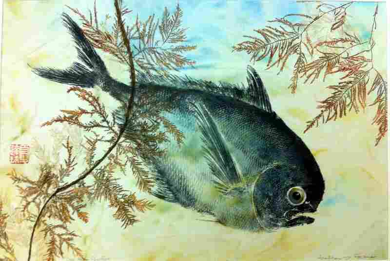 """Oregon pomfret, by Heather Fortner. """"I have always loved the ocean and anything from the ocean,"""" Fortner says, adding, """"Gyotaku allows you to express an appreciation for the natural world by partnering with the finest artist in the world: Mother Nature."""""""