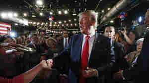 Donald Trump arrives at the National Federation of Republican Assemblies on Saturday in Nashville, Tenn., ahead of his speech before the conservative group.