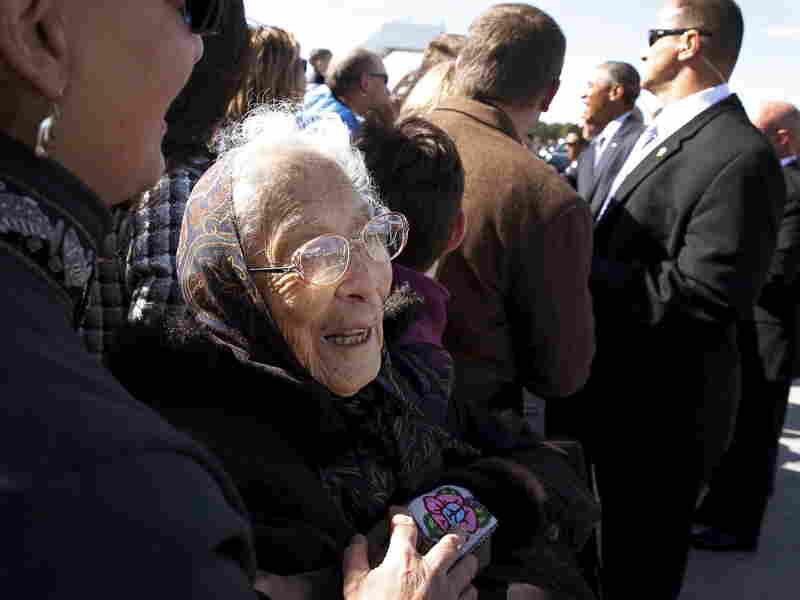 Poldine Carlo, 94, a founding member of the Fairbanks Native Association.