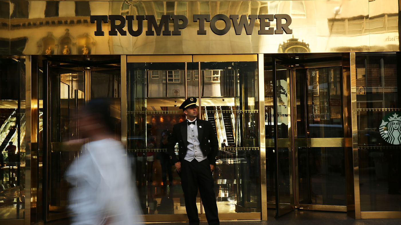 When You See Trump On A Building It Might Not Be What Think S All Politics Npr