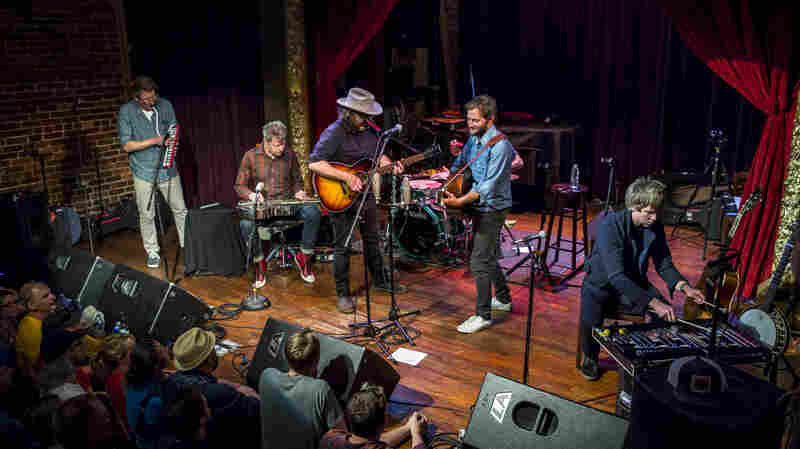 Wilco performs live for the KEXP audience.