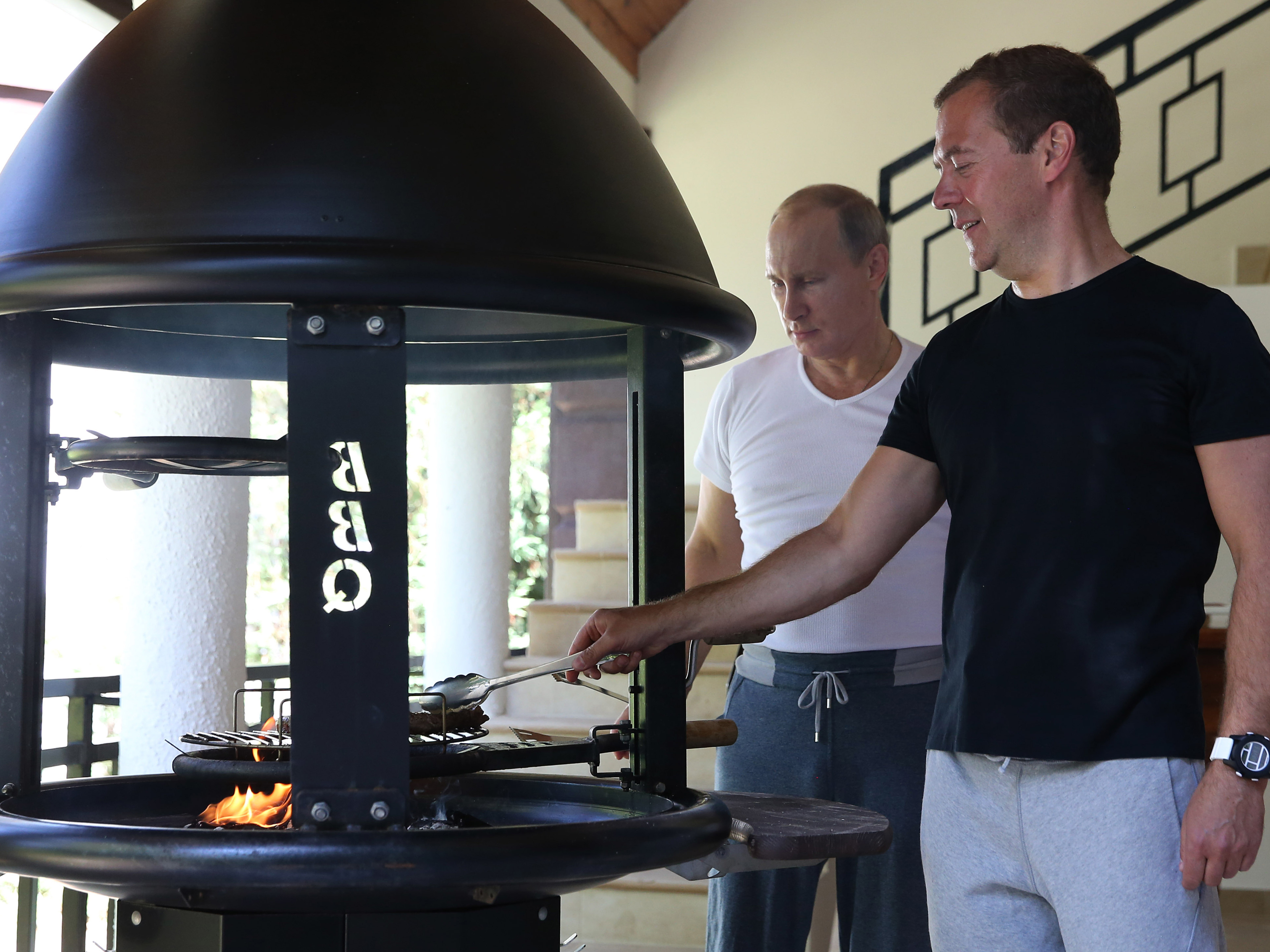 Just 2 Russian Bros Working Out Grilling Steak Drinking Tea Parallels Npr