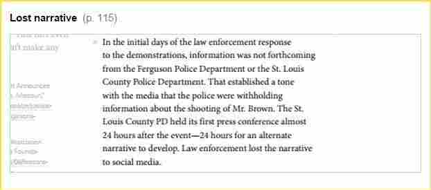 """""""The St.Louis County PD held its first press conference almost 24 hours after the event — 24 hours for an alternate narrative to develop. Law enforcement lost the narrative to social media."""""""