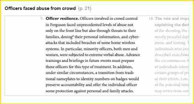 """""""Officers involved in crowd control in Ferguson faced unprecedented levels of abuse not only on the front line but also through threats to their families, doxing their personal information, and cyber-attacks that included breaches of some home wireless systems."""""""