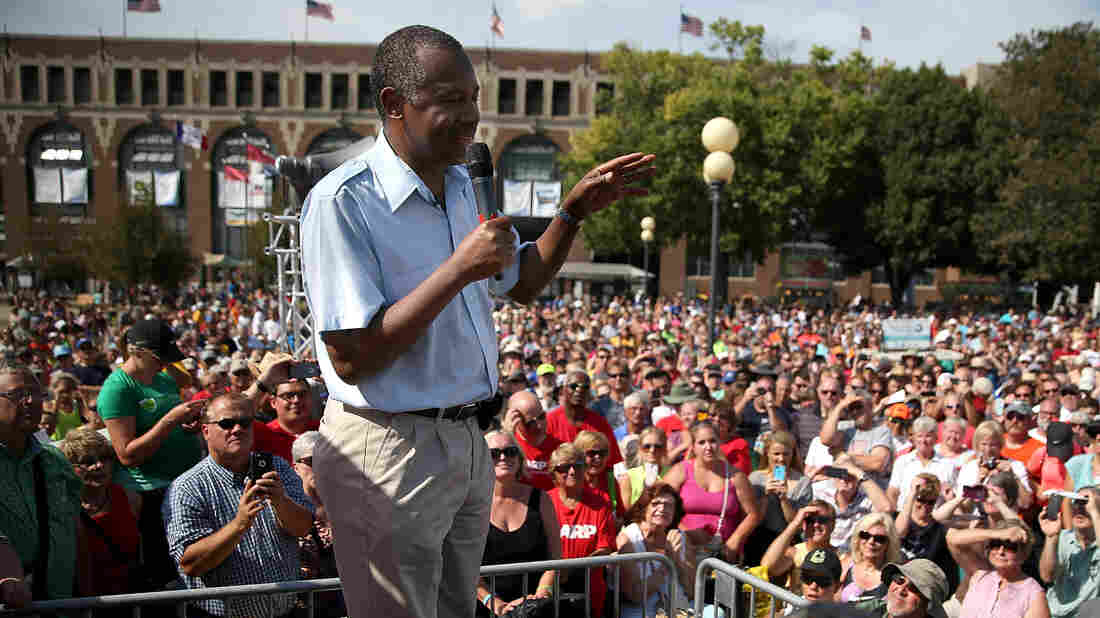 Presidential candidate Ben Carson attracted a large crowd at the Iowa State Fair last month.
