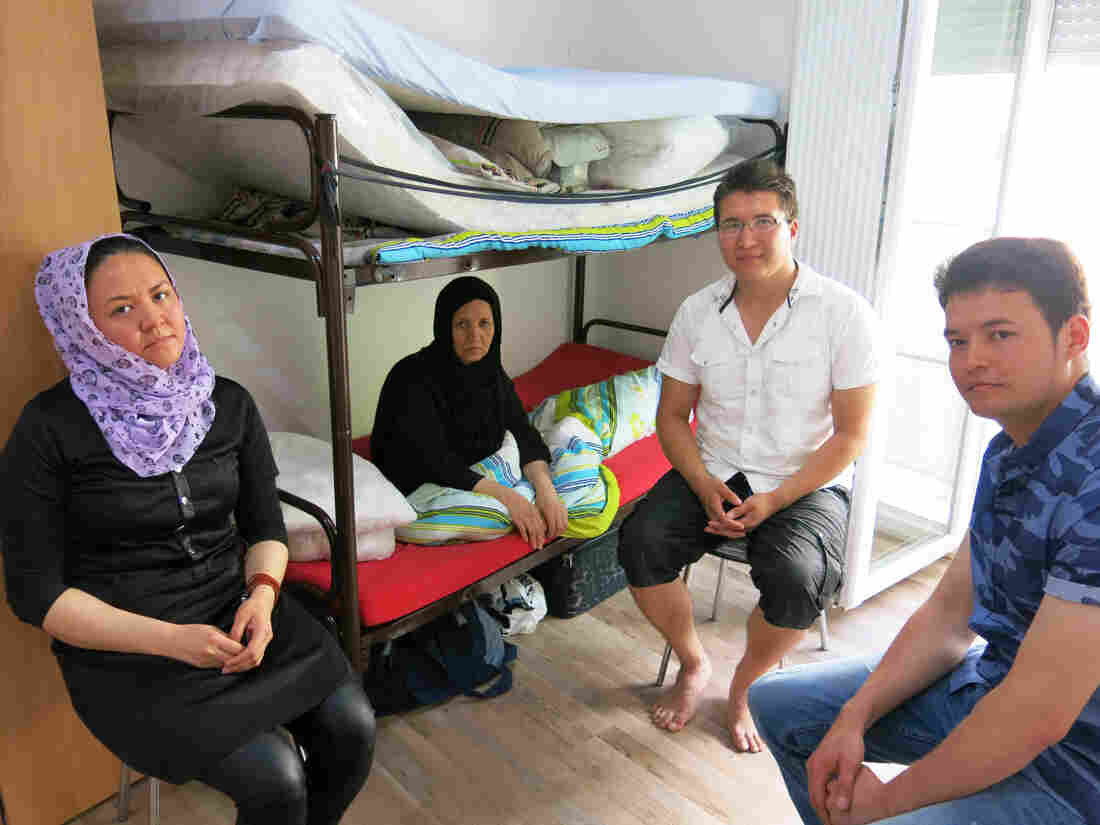 Afghan Jan Ali Habibi (right) with his family. They sought asylum in Germany 5 1/2 years ago and are still in limbo.