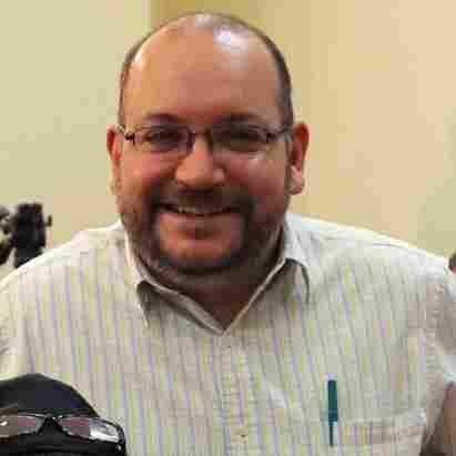 "Washington Post Iranian-American journalist Jason Rezaian, seen here with his wife, Yeganeh Salehi, has been held prisoner since he was arrested in Tehran last July. On Thursday, a powerful Iranian politician said of a potential prisoner swap, ""That's one way."""