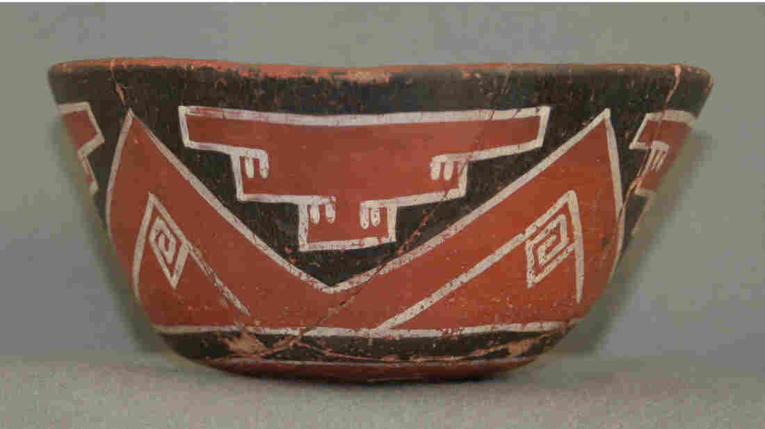 Make mine a venti: An example of a drinking vessel from the Grasshopper Pueblo archaeological site in central Arizona. Researchers tested shards of similar vessels found at various sites in the American Southwest and found evidence that people in the region were drinking caffeinated cacao and yaupon holly drinks 1,000 years back.